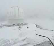 罕见!夏威夷降大雪 冲浪胜地变高山滑雪场(图)