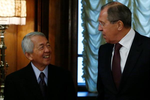 菲律宾外长访问俄罗斯 与俄外长会晤
