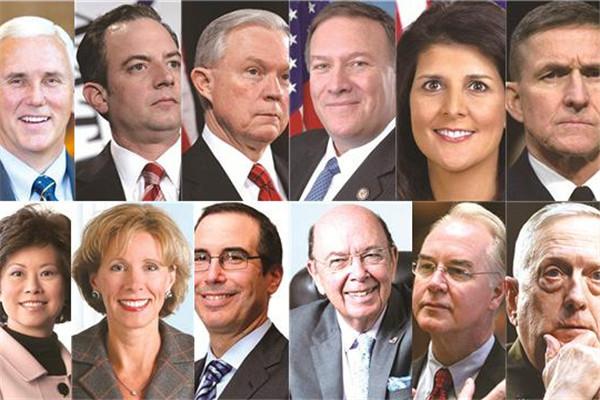 """特朗普""""天团"""":12名内阁人选都是谁"""