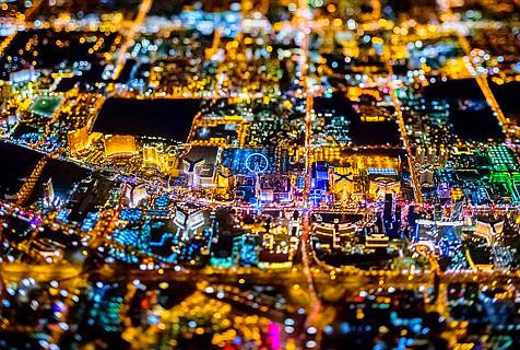摄影师航拍十大都市夜景 灯火绚烂