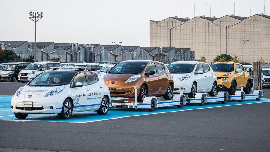 日产本土测试无人驾驶聆风 协助车辆运输