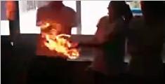 化学课上的火球传递实验