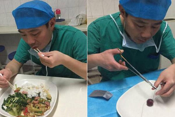外科医生用棉签吃饭:锻炼手术技艺