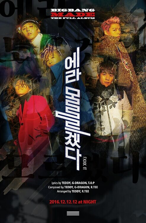 BIGBANG将推T.O.P入伍前最后正规专辑