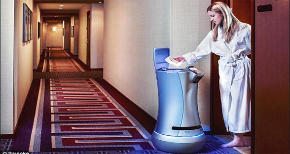 美公寓用机器人提供客房服务 房客用APP下单提要求