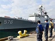 中国海军舰队抵达美国访问