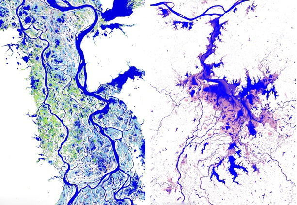 300万张卫星图制成高清地图揭示地表水变化