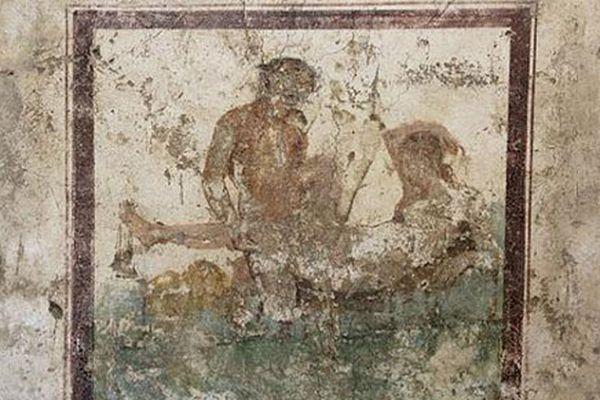 考古发现庞贝千年妓院 壁画尺度惊人