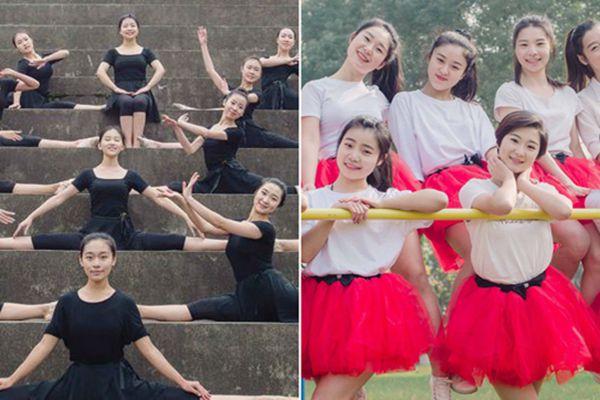 """女大学生拍""""高颜值""""毕业照 花样舞步谱写""""青春舞曲"""""""