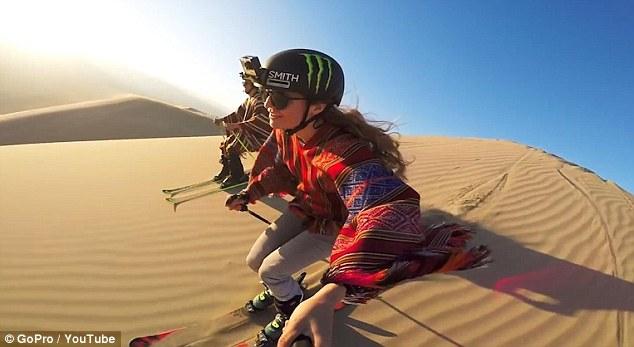 前冬奥会滑雪选手秘鲁滑沙表演惊人绝技