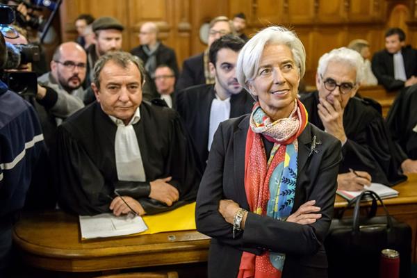 "IMF总裁拉加德在法国出庭受审 被指涉嫌""渎职"""