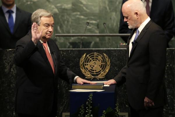 古特雷斯正式宣誓就任联合国第九任秘书长