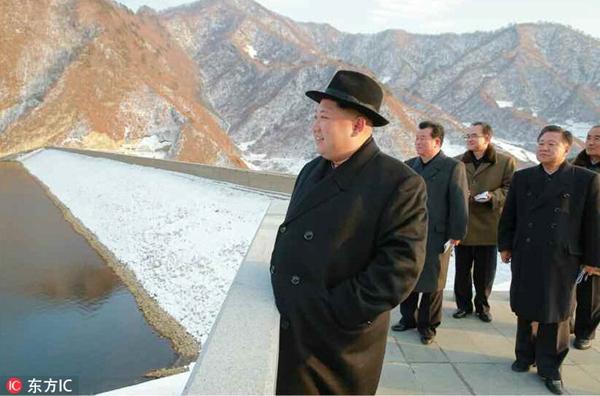 金正恩视察朝鲜元山军民发电站 亲切指导工作
