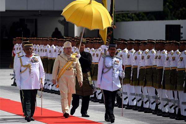 马来西亚新任国王加冕礼举行