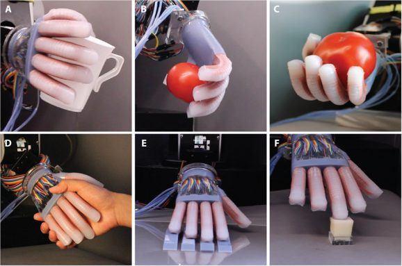 康奈尔大学创造可以感觉形状和纹理的软性机器人手