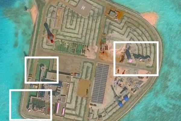 """美智库:卫星图像显示中国""""似乎""""已在南海岛礁部署导弹"""