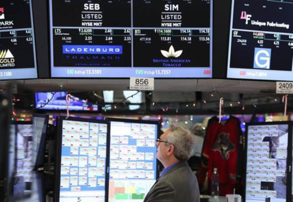 美联储再次加息 纽约股市三大股指下跌