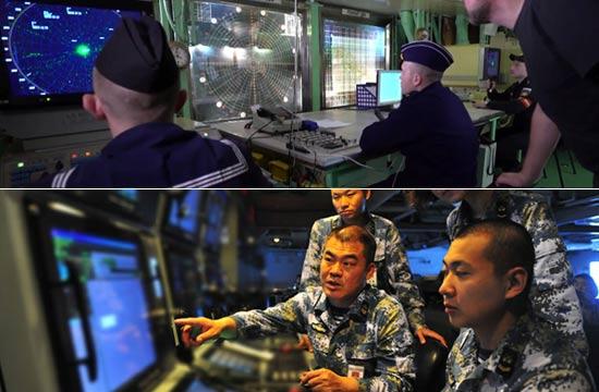 中俄现役航母作战指挥室对比