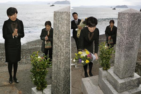 普京来访前,安倍妻子拜祭被日军杀死的俄国士兵