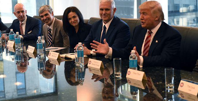 美国:特朗普会见技术领域精英 谷歌亚马逊等公司获邀