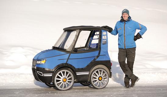 瑞典工程师发明伪装成汽车的电动自行车