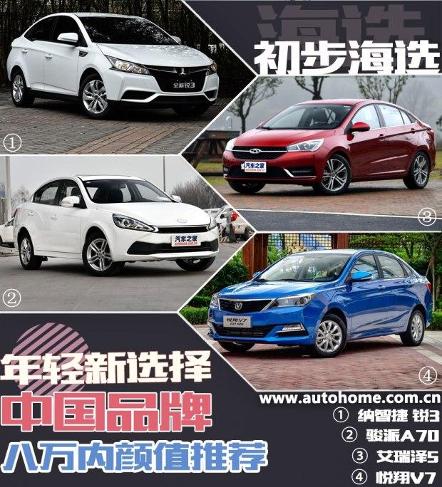 年轻新选择 中国品牌八万内颜值推荐