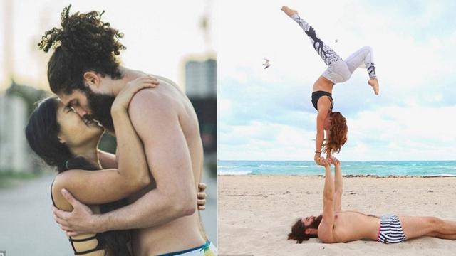 美瑜伽教练发图纪念恋爱三周年引网友追捧