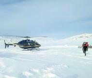 国内首条直升机滑雪线路落户新疆阿勒泰