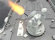 052D南海近防炮开火倾泻火力