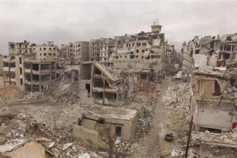 航拍阿勒颇宛如一座人间鬼城
