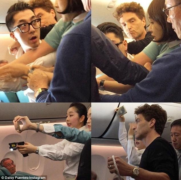昨天,一架韩国班机正飞越中国上空,突然……