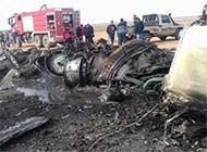 利比亚米格23坠机摔成零件