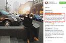 约什到北京戴口罩坐在雾霾中 吐槽:在污染中挣扎