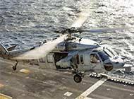 美军舰补给最常用直升机