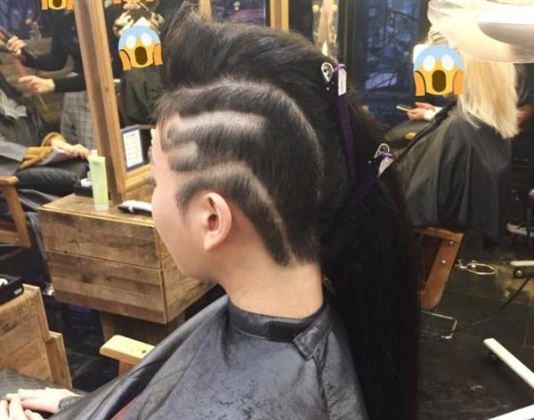 韩国美女为COS《守望先锋》黑影剃头:神还原