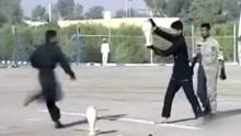 伊朗特种兵表演踢陶罐次次踢不碎 尴尬全场