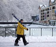 """俄罗斯索契""""玫瑰庄园"""":冬日滑雪季"""