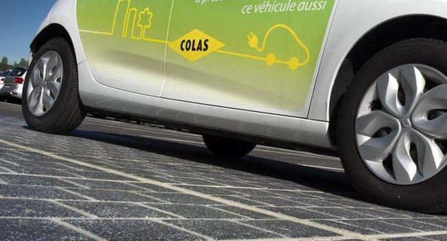 外媒:法国建成世界首条太阳能公路