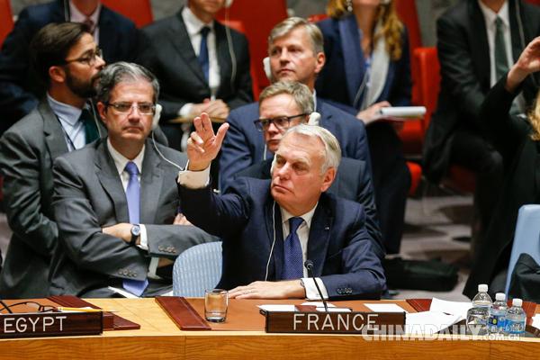 """法国外长:特朗普挑?#20581;?#19968;中原则""""极不明智"""