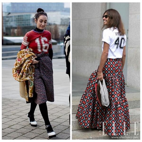 现在的人真是怪,非要把公主裙和T恤配起来!