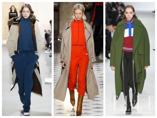 在大衣里穿运动套装?现在的流行越来越让人看不懂了!