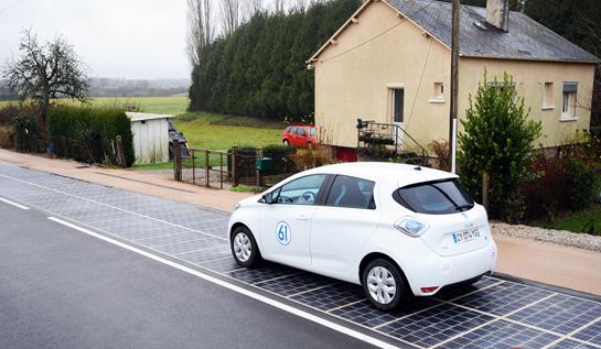 全世界第一条太阳能道路在法国揭幕
