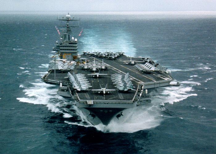美国铁心在南海继续搅局_安排航母编队炫耀武力