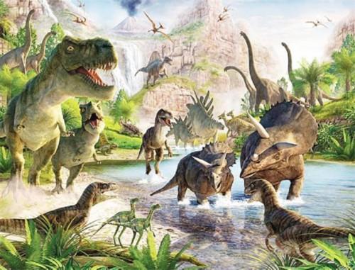 (侏罗纪恐龙展示意图.)图片
