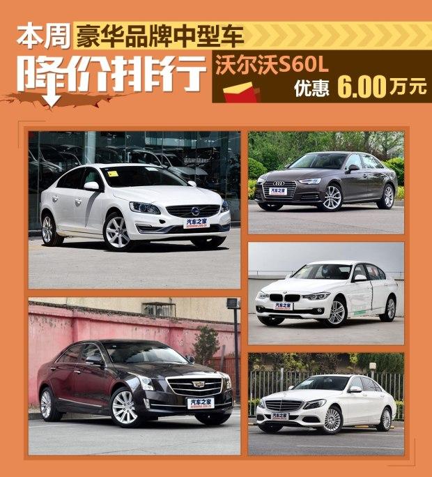 沃尔沃S60L降6万 豪华中型车降价排行