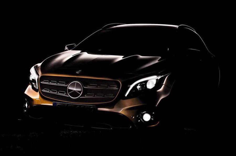 2017款奔驰GLA预告图发布 将亮相北美车展