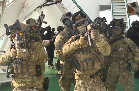 新年军演韩国版海豹突击队出动