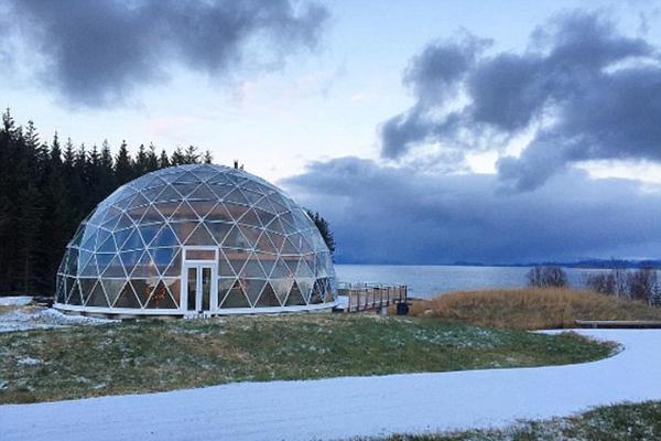 挪威北极生态环保屋温暖舒适内部还可种果蔬