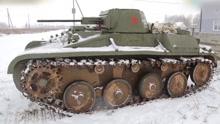 白俄罗斯牛人自制T60坦克:除履带全由废铁制成