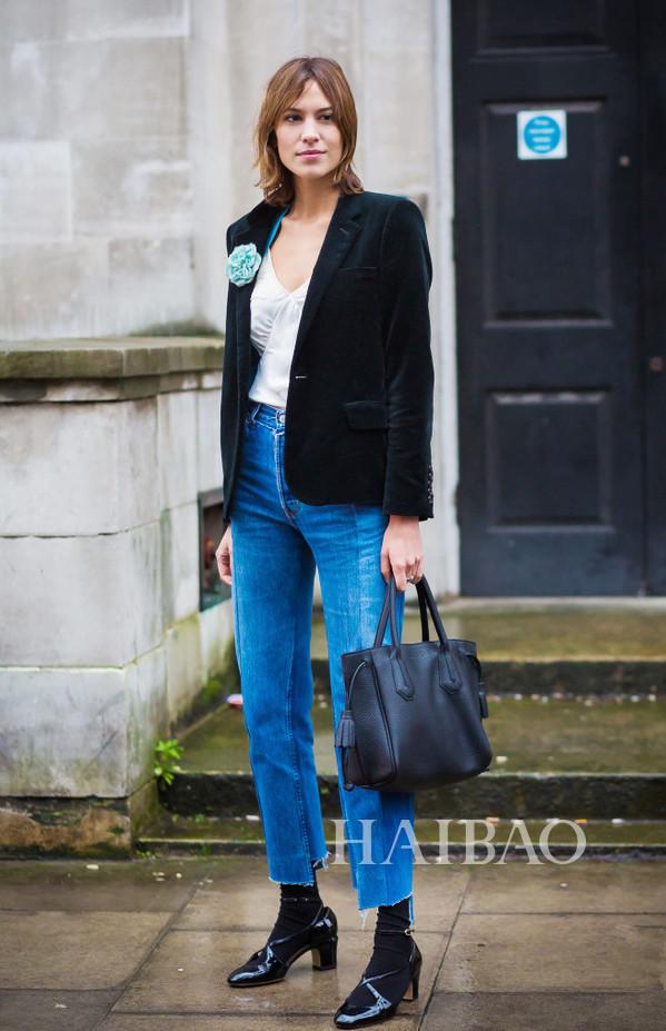 hung) 穿牛仔裤搭配西装-2016海报网年度盘点之博主自创品牌TOP 图片